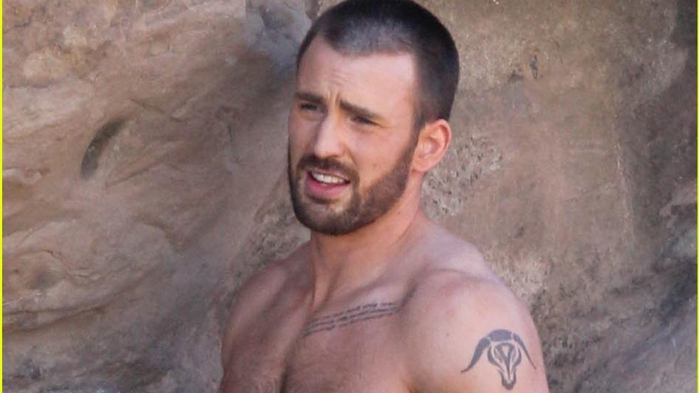 chris evans tattoo avengers