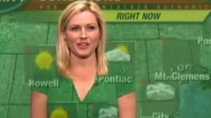 silly green screen weather