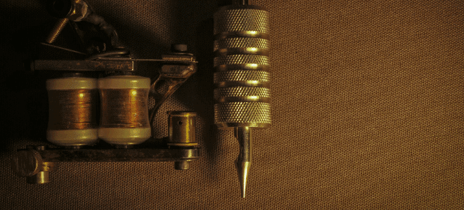 tattoo machine and tube