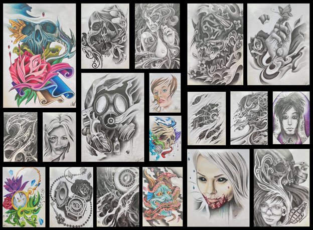 A real tattoo portfolio that landed an apprenticeship