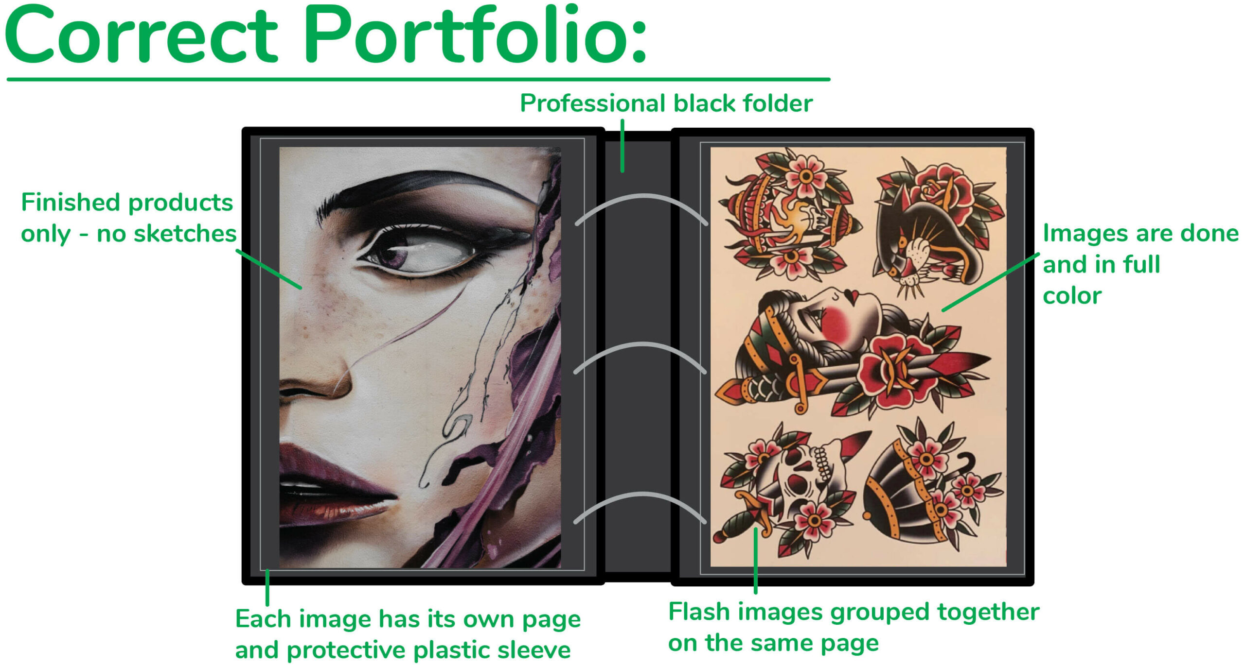 Example of a good tattoo portfolio