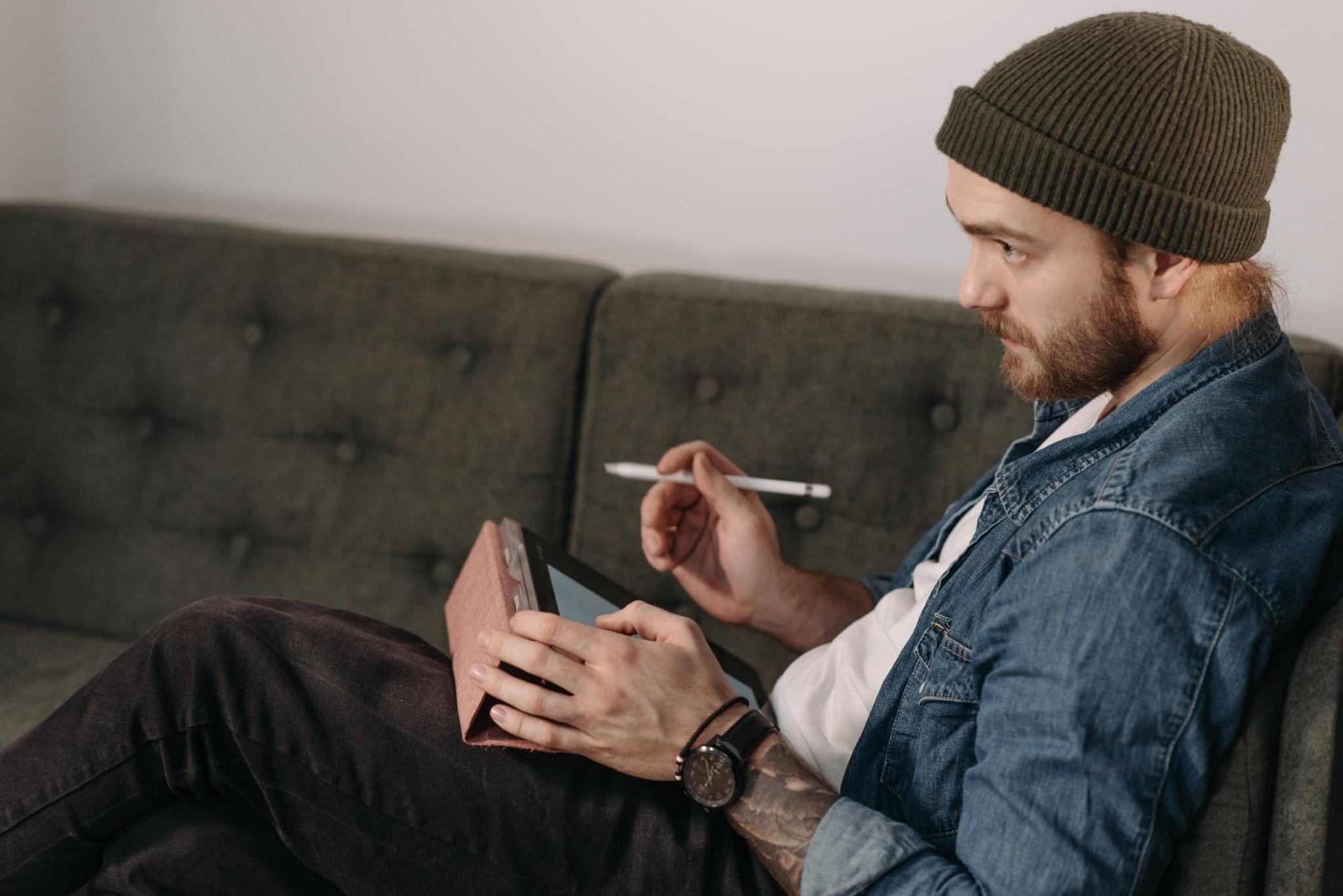 tattoo artist studying